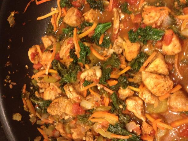 Chicken and Kale Saute With Pasta