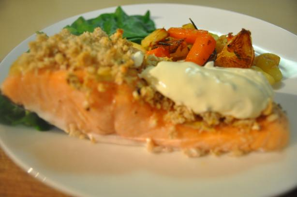 Mustard Crusted Salmon (For the Toaster Oven)