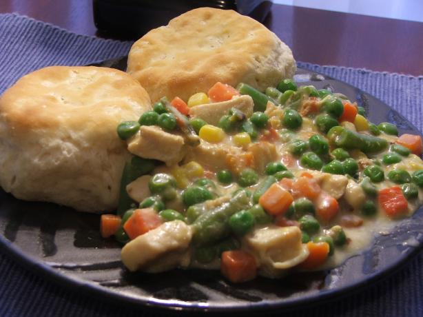 Inside-Out Chicken Pot Pie