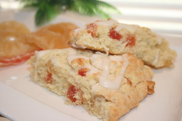 Coconut Papaya & Pineapple Scones