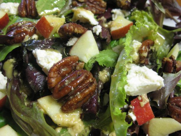 Feta Cheese, Apple, and Spiced Pecan Salad
