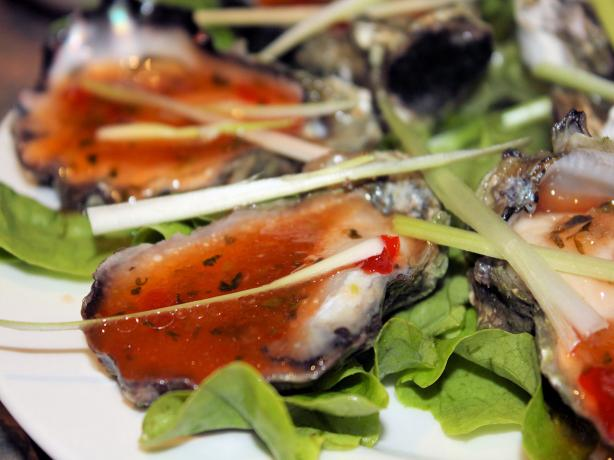 Oysters With Chilli Dressing