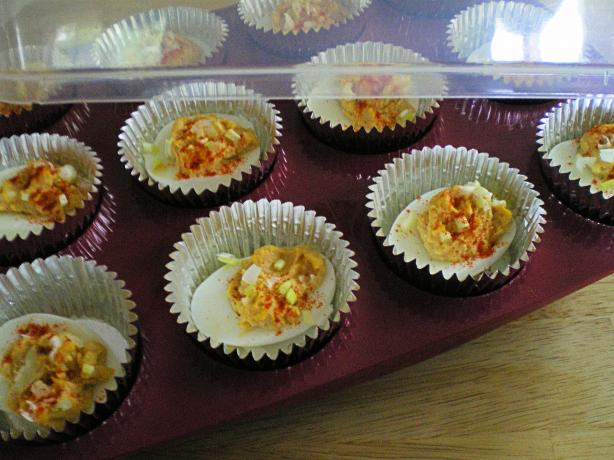 Barbeque Deviled Eggs