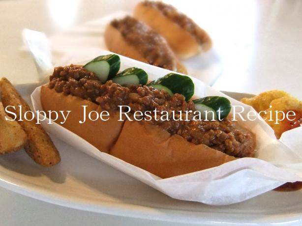 Sloppy Joe Restaurant Recipe