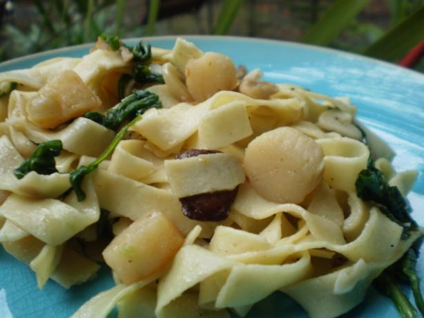 Pappardelle With Scallops - Guy Fieri