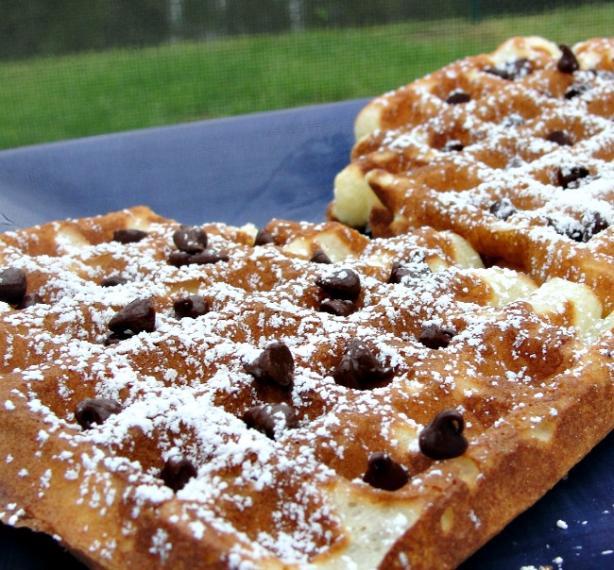 Sour Cream- Blueberry Waffles