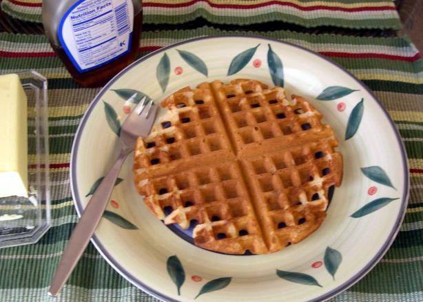 Hearty White Whole Wheat Waffles