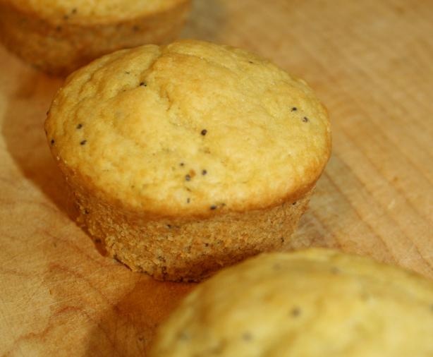 Vegan Ginger Lemon Poppy Seed Muffins