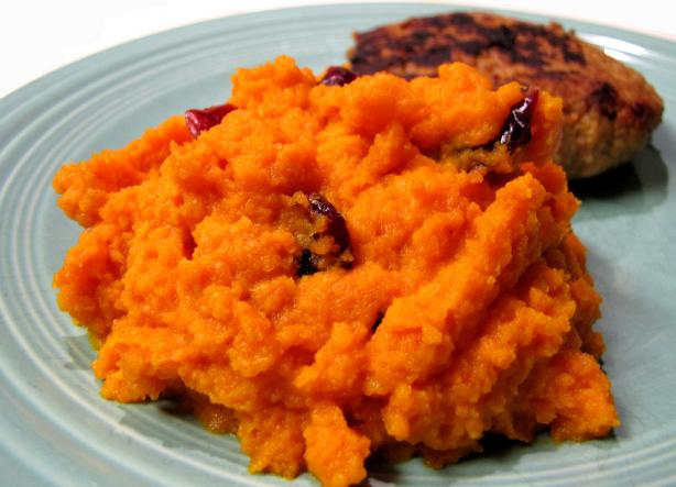 Whipped Carrots With Cranberries