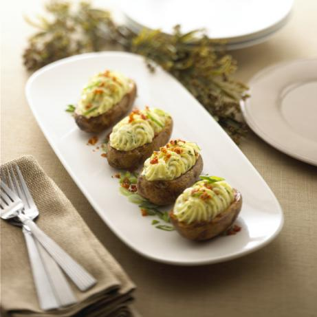 Twice Baked Potatoes With Alouette Cheese