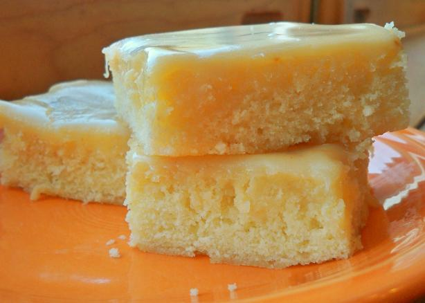 Blondies With White Chocolate Ganache