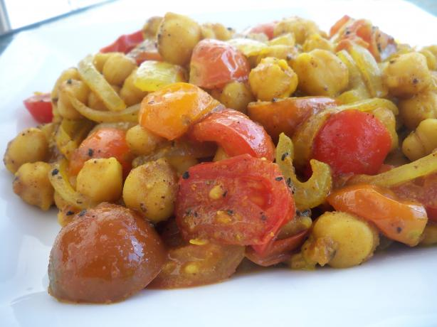 Bombay Spiced Chickpeas & Tomatoes