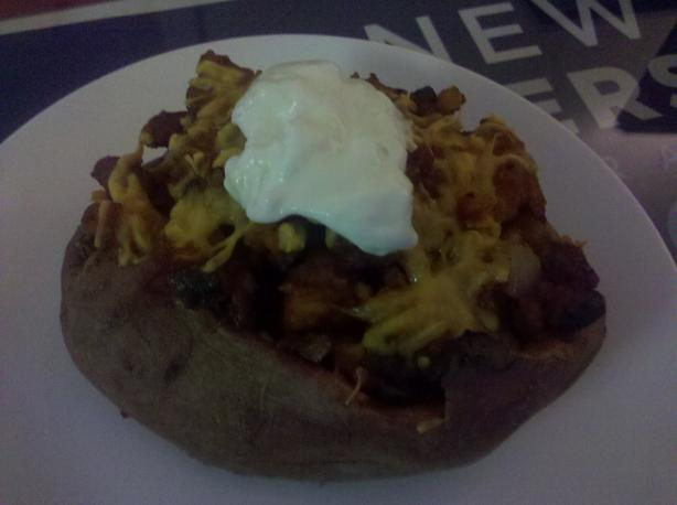 Veggie Low-Cal BBQ Twice Baked Sweet Potato