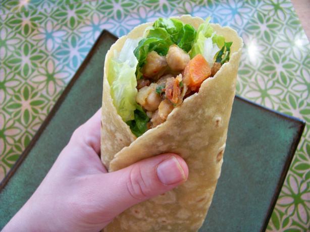 Mediterranean Chickpea Wrap