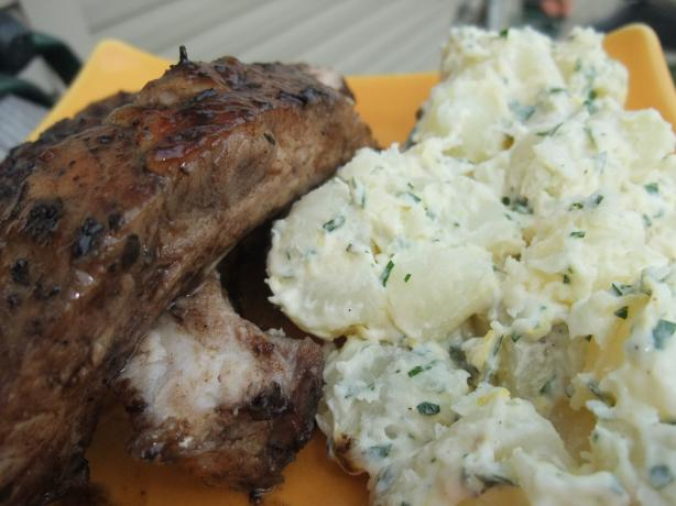 Sweet Tea Ribs With Lemony Potato Salad
