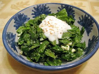 Spinach Salad With Feta and Nutmeg