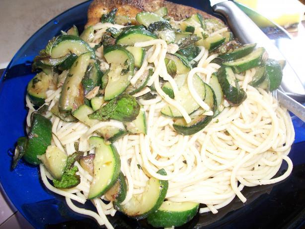 Minty Zucchini Linguine