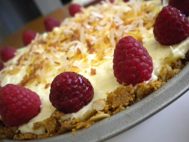 Coconut Raspberry Cream Pie