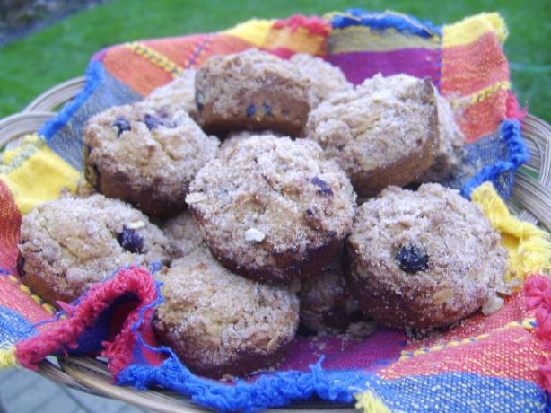 Whole Wheat Blueberry Muffins (Vegan)