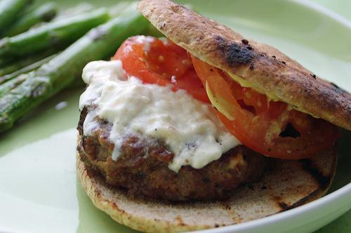 Mediterranean Burgers With Feta Cheese