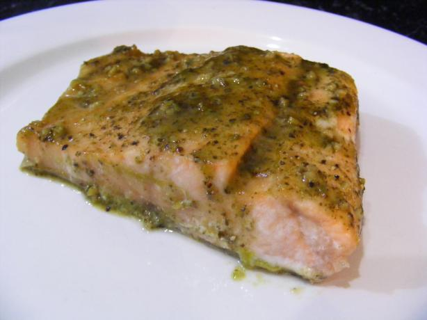 Sweet Pesto Salmon