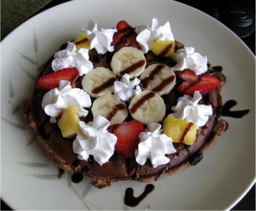 Banana Split Waffles (Vegan)