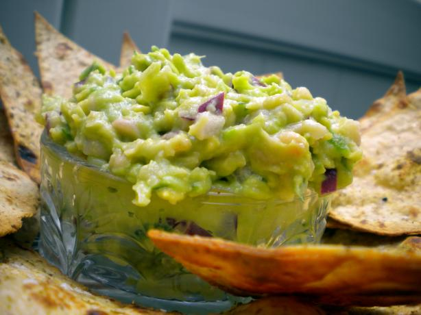White Bean Guacamole With Cumin-Dusted Chips