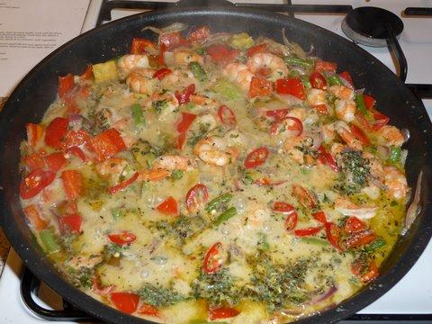 Fiery Avocado Green Curry and Shrimp Carb Redo