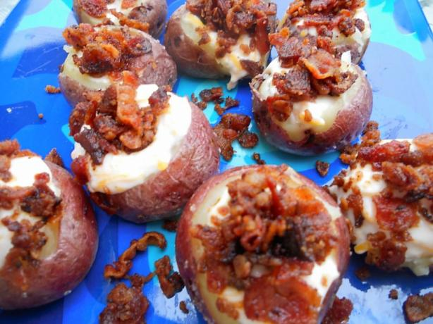 Mini Loaded Red Potatoes(Vegetarian)