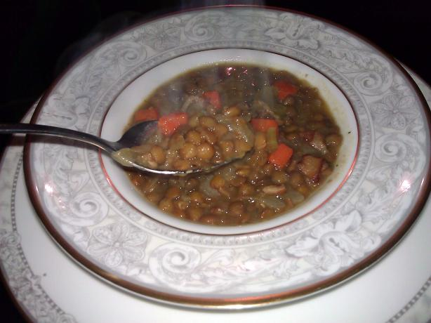 Linsen Suppe (German Lentil Soup)
