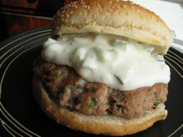 Turkey and Herb Burgers With Yogurt Lemon Dressing