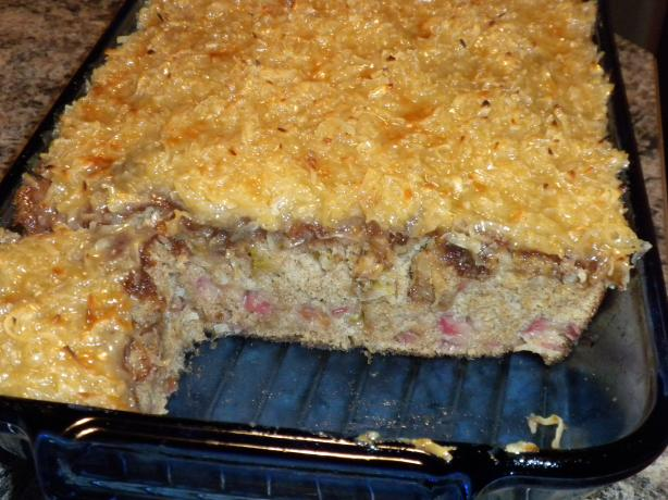 Best Rhubarb Cake Ever!! (With Coconut Topping)