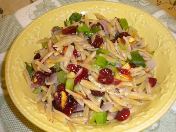 Orzo With Celery, Cranberries and Pecans
