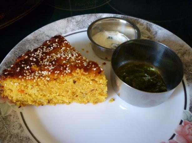 Ondhwa or Handvoh - Spicy Lentil Cake