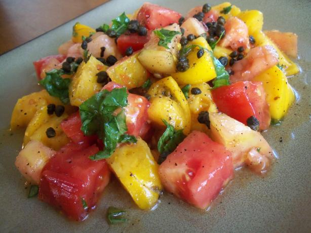 Heirloom Tomato Salad With Crisped Capers