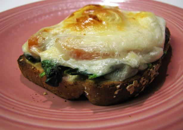 Open-Faced Jarlsberg Sandwiches With Greens