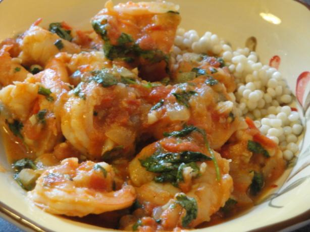 Prawn and Harissa Stew With Couscous