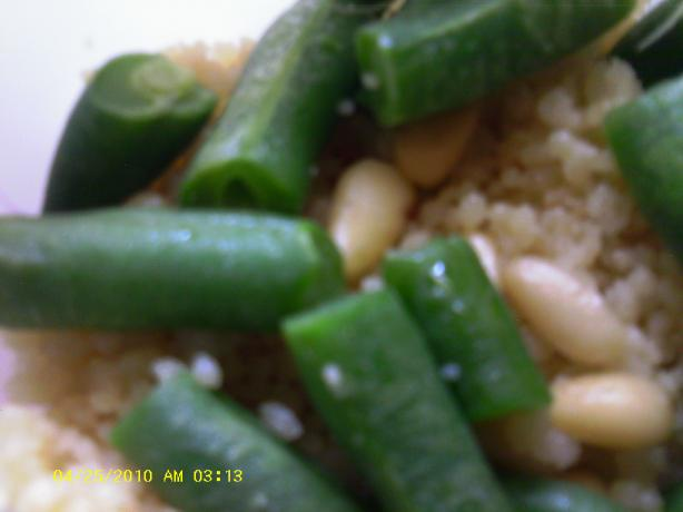 Morrocan Couscous With Green Beans