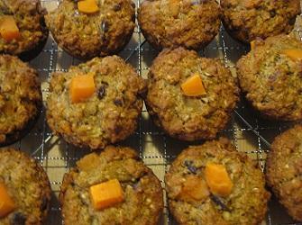 Date Sweet Potato Spelt Muffins (Vegan)