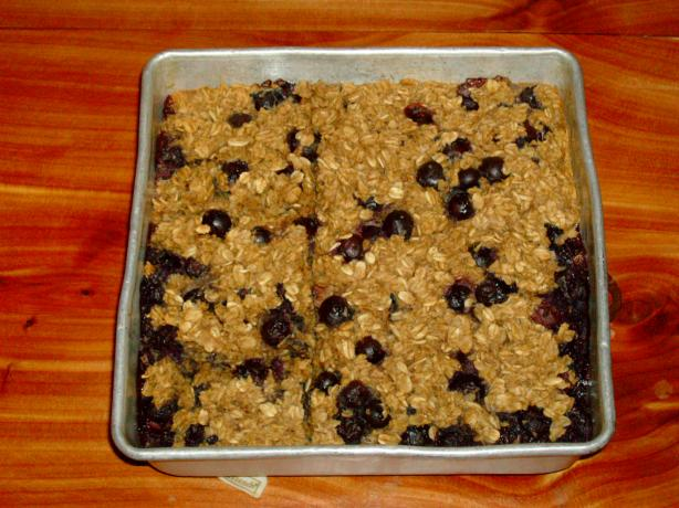Bluebery Oatmeal Breakfast Bake