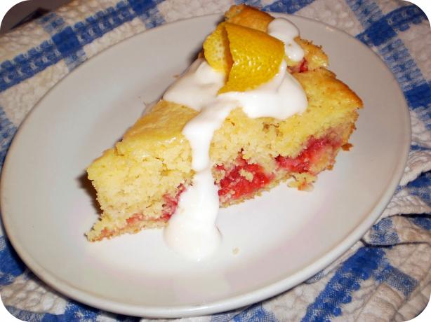 Lemon-Raspberry Cornmeal Cake