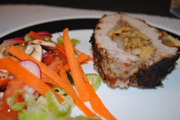 Grilled and Stuffed Colonial Pork Tenderloin