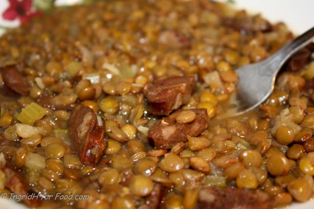 Warm Chorizo and Thyme Lentils