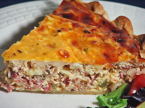 Reuben Quiche -- Fully Dressed!