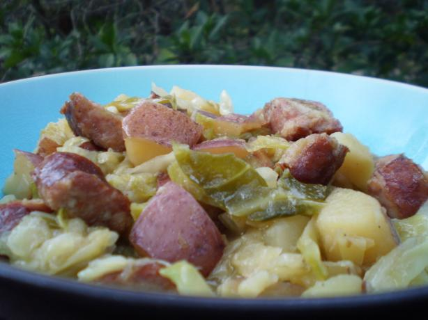 Kielbasa, Cabbage and Onions