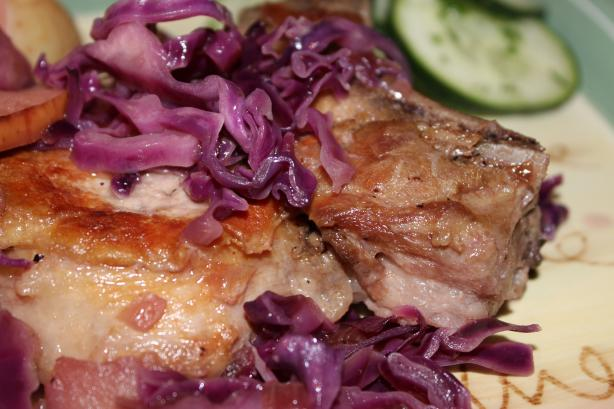 Red Cabbage With Pork and New Potatoes