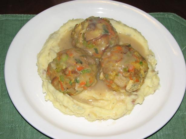 Turkey Balls With Mash & Gravy