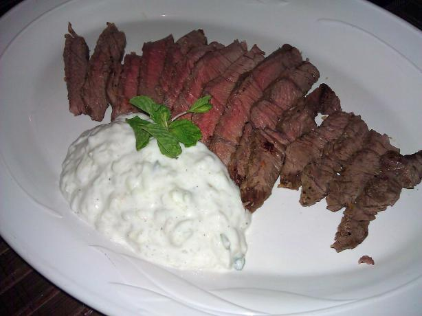 Beef With Cucumber Raita