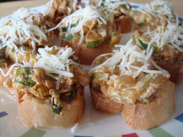 Creamy Zucchini Crostini