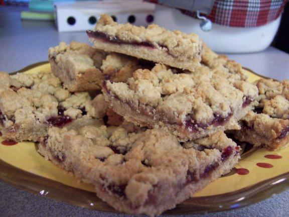 PB&J Crumble Bars